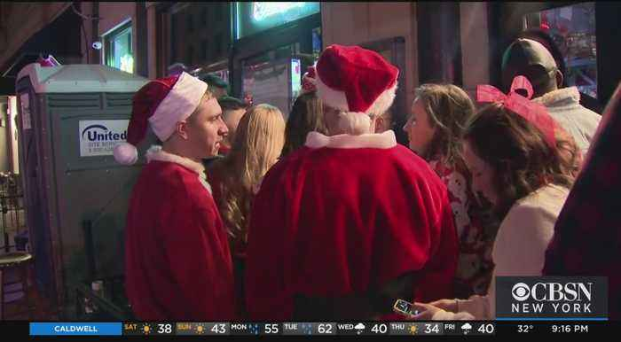 Police Watch Over Hoboken's SantaCon