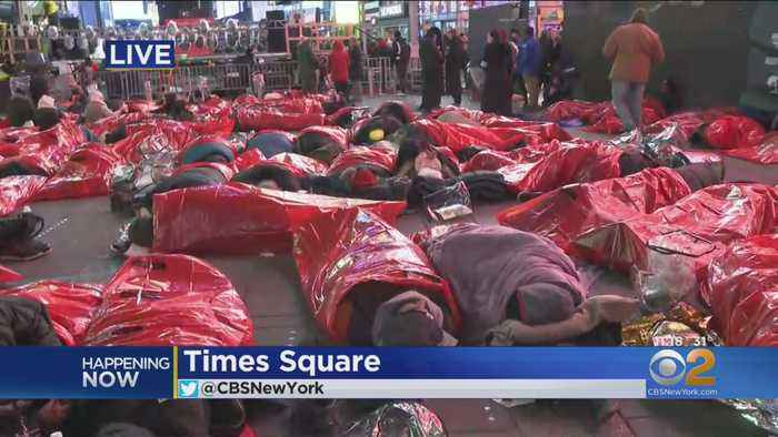 Hundreds Brave The Cold To Fight Homelessness In NYC