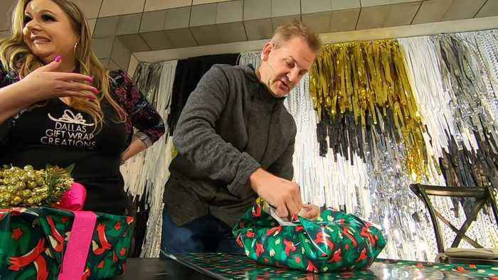 Mike Max Faces Off Against Competitive Gift Wrapper