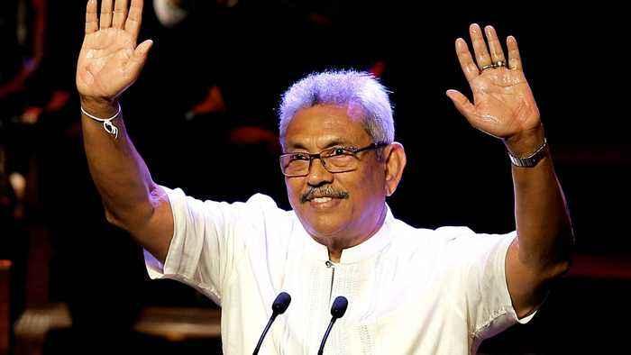 Sri Lanka's new leader promises to unite country
