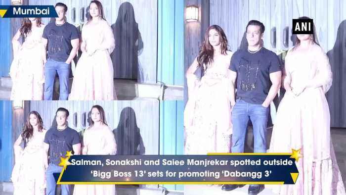 Salman Khan welcomes 'Dabangg 3' cast on 'Bigg Boss 13 sets
