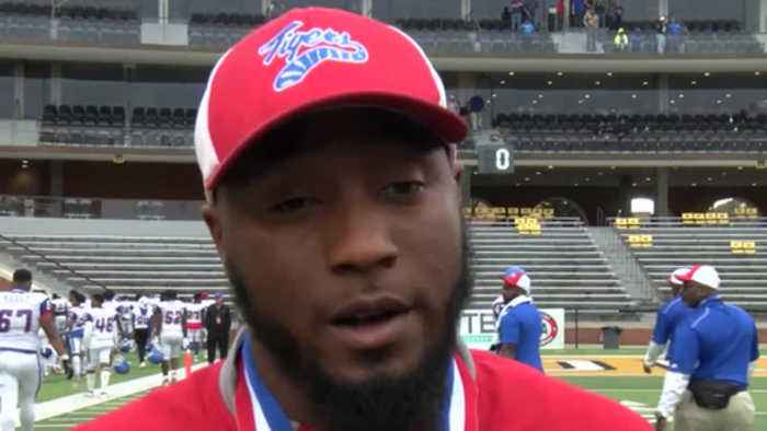 Noxubee County coach talks with media after 25-15 loss to Jeff Davis County