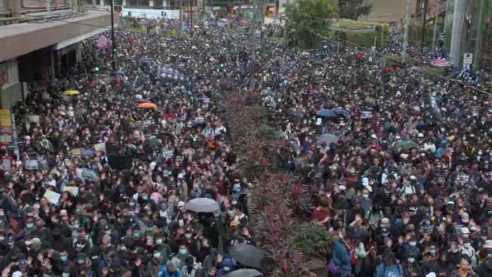 Hundreds of Thousands Gather For Largest Hong Kong Protest In Months