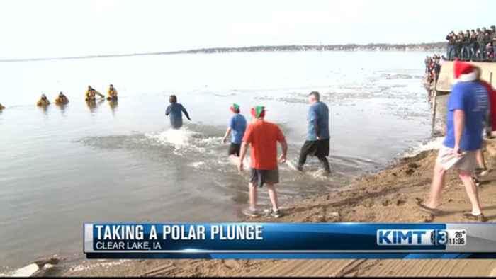 Polar Bear Dip in Clear Lake
