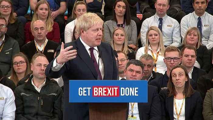 Johnson blasts Corbyn during a campaign speech