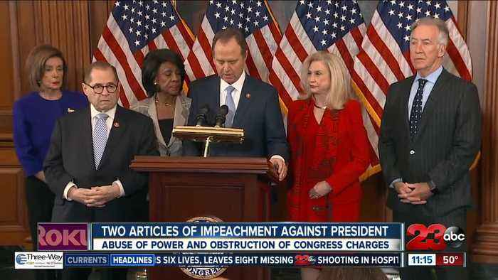 Two articles of impeachment against President Donald Trump