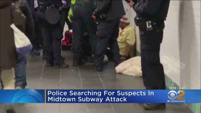 Police Searching For Suspects In Midtown Subway Attack