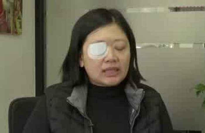 Journalist shot by HK police seeks justice