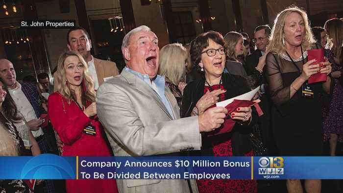 Baltimore Company Surprises Employees With $10M In Bonuses At Holiday Party