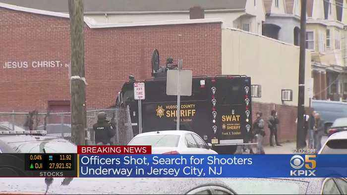 SWAT Teams Search For Suspects In Jersey City After Officers Shot