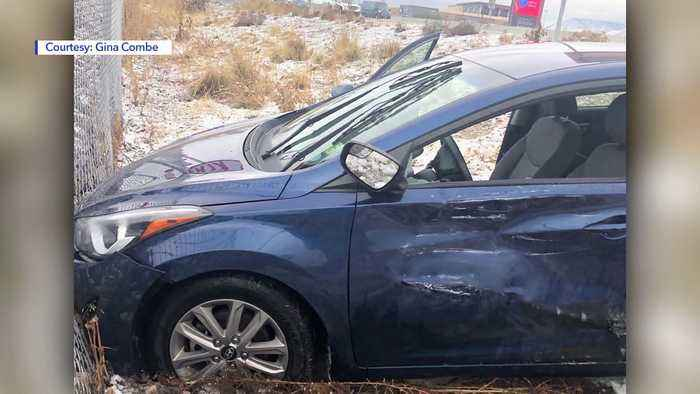 Woman Says Semi-Truck Driver Took Off After Slamming into Her Car on Utah Highway