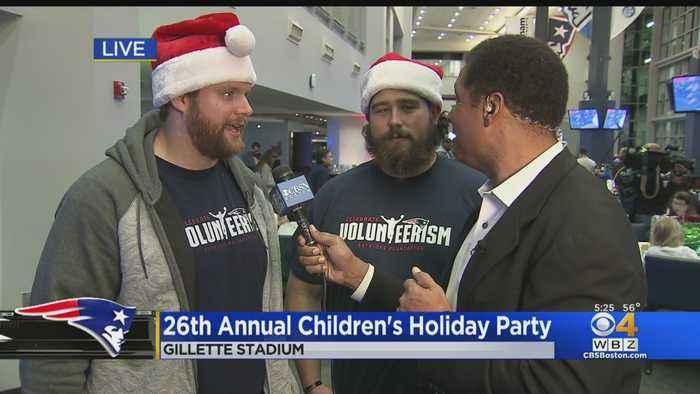 Ted Karras, David Andrews At Patriots Holiday Party