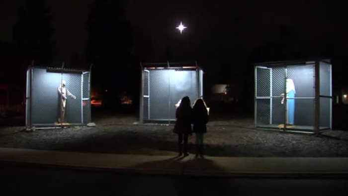 Nativity scene in California speaks out against border crisis