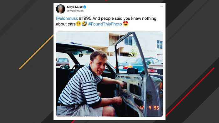 Elon Musk's Mother Tweets 1995 Picture Of Musk Fixing A Car Window