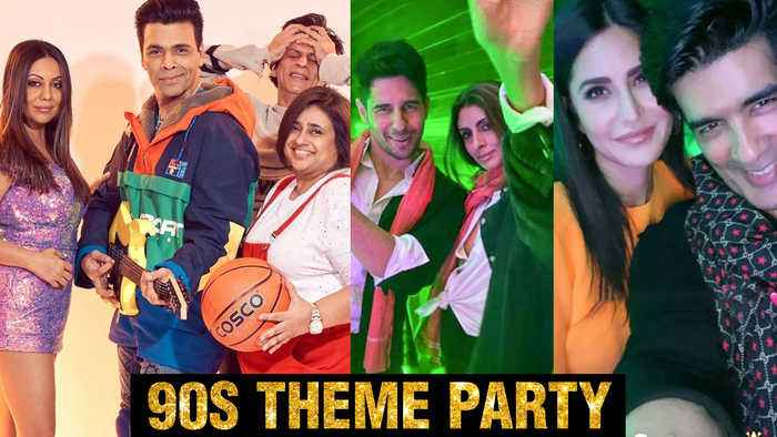 Katrina Kaif, SRK, Sidharth,Karan Johar, Janhvi Kapoor 90's Bollywood Theme Party | INSIDE Pictures