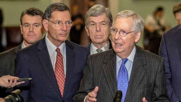 Senate majority leader seeks to acquit Trump