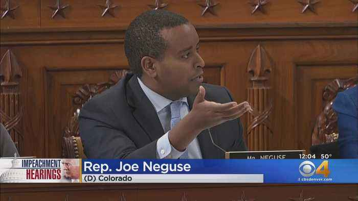 Rep. Joe Neguse, Rep. Ken Buck At Impeachment Hearing