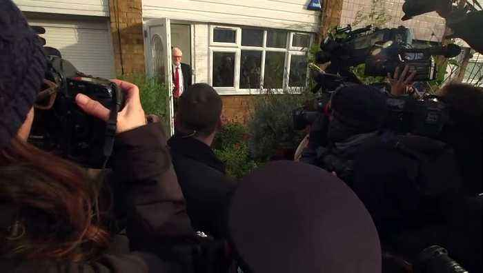 Corbyn departs home after general election defeat