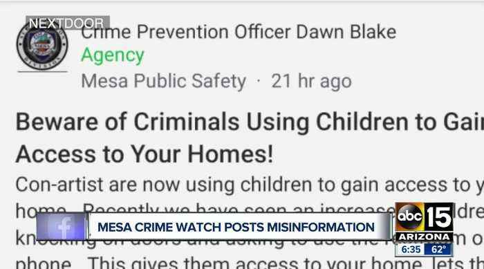 Mesa police clarify officer's social media post that turned out to be false