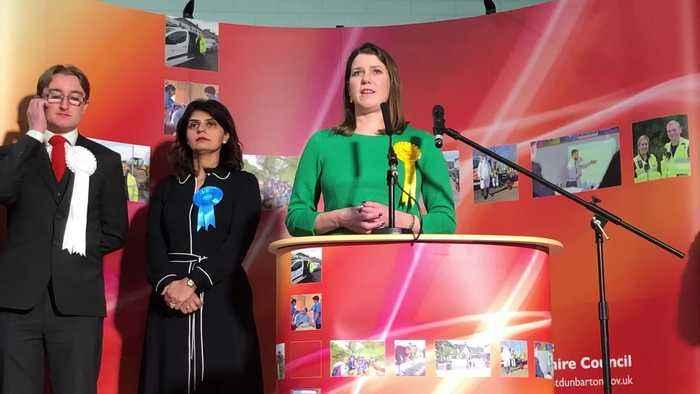 Liberal Democrat leader Jo Swinson loses her seat