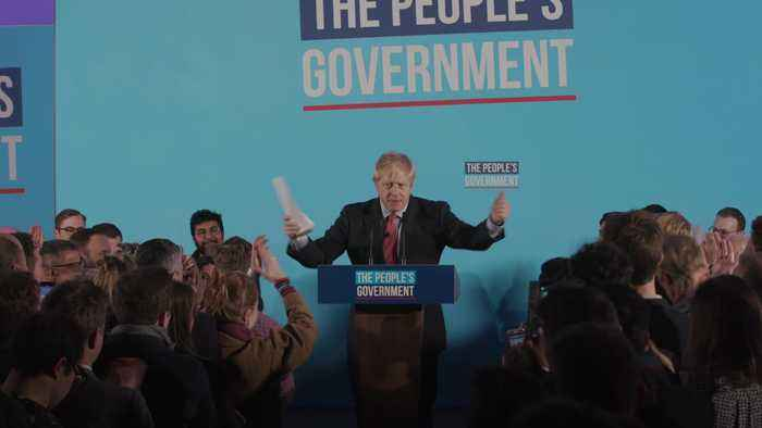 Johnson celebrates Conservative victory