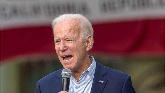 Joe Biden speaks to protestor at Texas rally