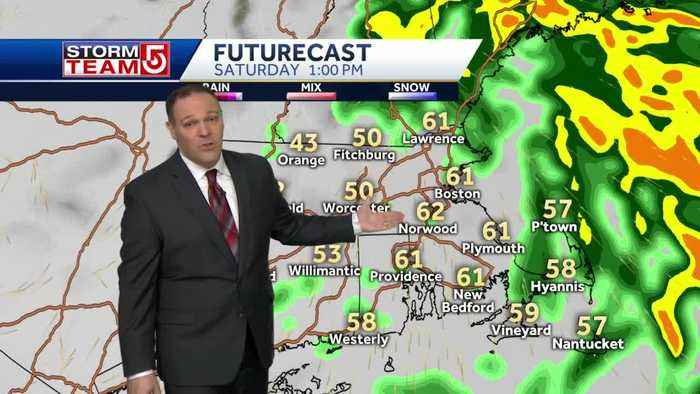 Heavy rain to taper off, strong winds will 'relax' Saturday afternoon