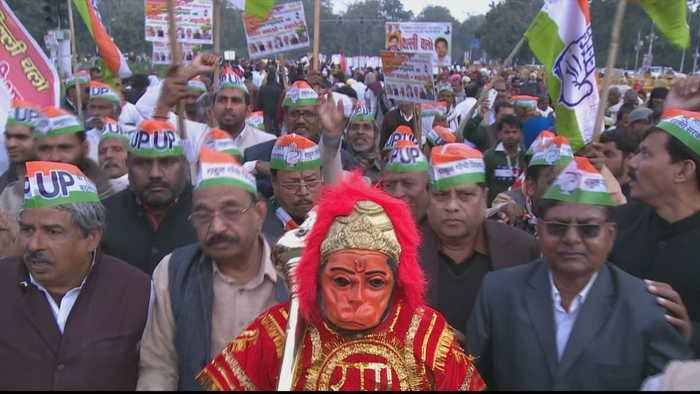 Thousands protest in New Delhi over 'anti-Muslim' citizenship law