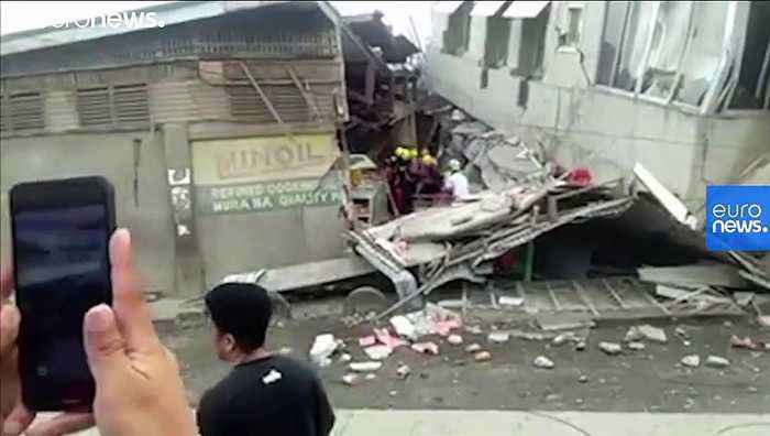 At least one dead and several injured as strong quake hits southern Philippines