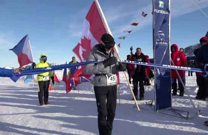 84-year-old completes gruelling Antarctic Ice Marathon