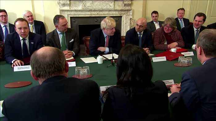 UK PM Johnson opens first cabinet meeting