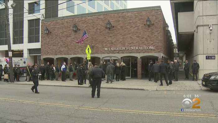 New Jersey Shooting: Community, Police Officer Pay Respects To Fallen Detective