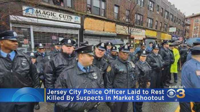 20 Philadelphia Police Officers Attend Funeral For Officer Killed In Jersey City Shootout