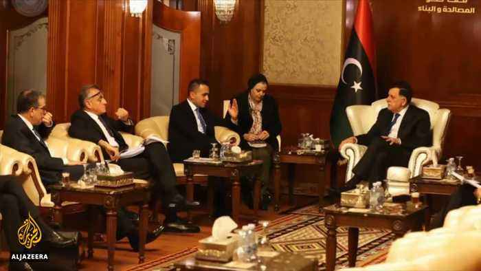 Italy's Di Maio holds talks with Libya's rival leaders