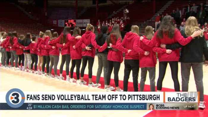 Fans send volleyball team off to Pittsburgh