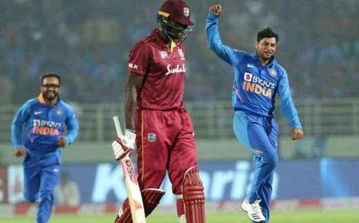 India vs West Indies: Kuldeep Yadav reaction after taking hattrick | Oneindia News