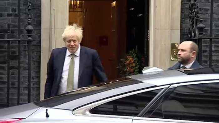 PM leaves Downing Street for 2nd Queen's Speech of the year