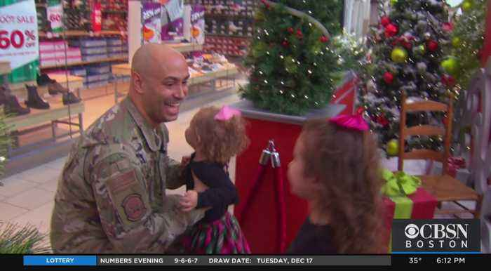 Two Girls Surprised At Northshore Mall As Their Deployed Dad Appears For Christmas