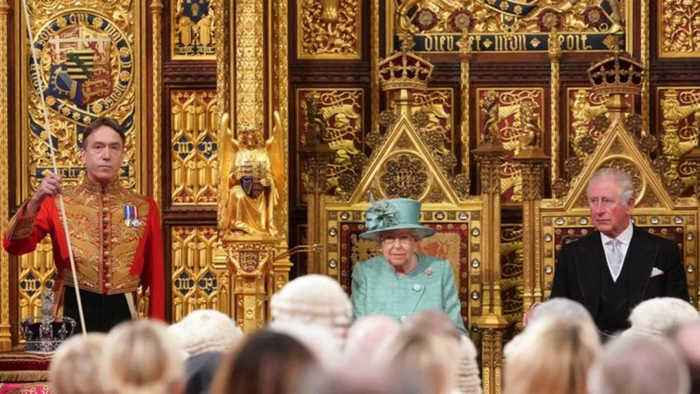 Queen lays out Johnson's Brexit, NHS plans at Parliament opening