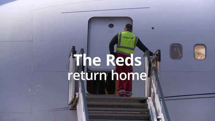 Liverpool arrive at home after victory in the Club World Cup