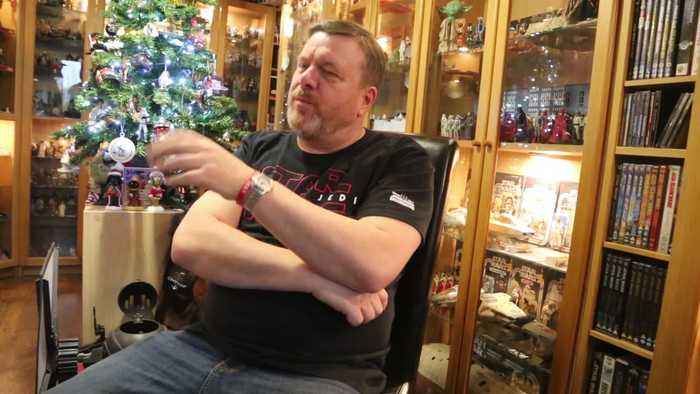 Star Wars fanatic has amassed a remarkable 5,000 strong collection of memorabilia since falling in love with the film franchise