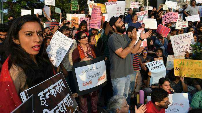 Indian protesters against citizenship law defy rally ban