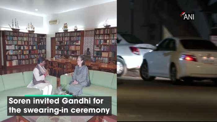Hemant Soren arrives at Sonia Gandhi's residence