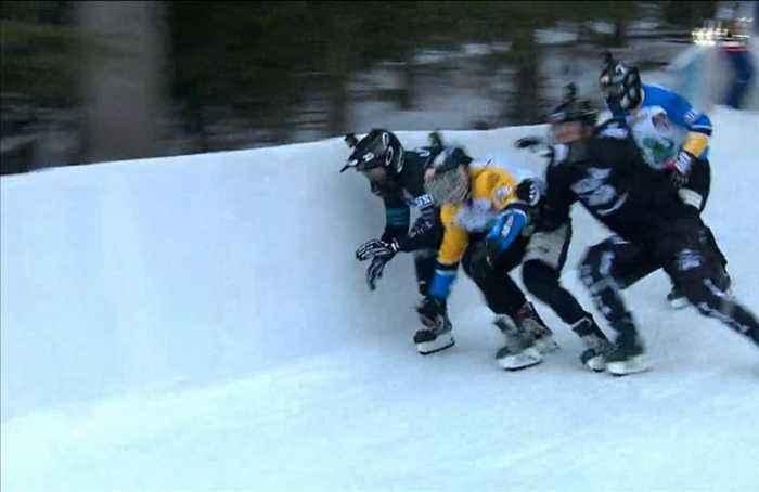 Wins for Marco Dallago and Anais Morand in Ice Cross season opener