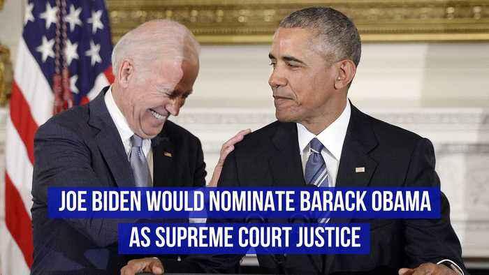 Joe Biden Would Nominate Barack Obama as Supreme Court Justice