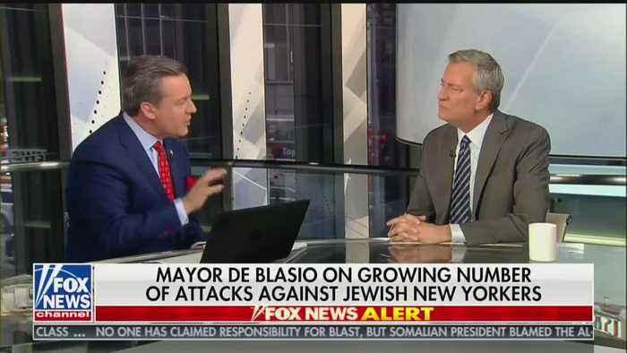 De Blasio blames anti-Semitic attacks on Washington