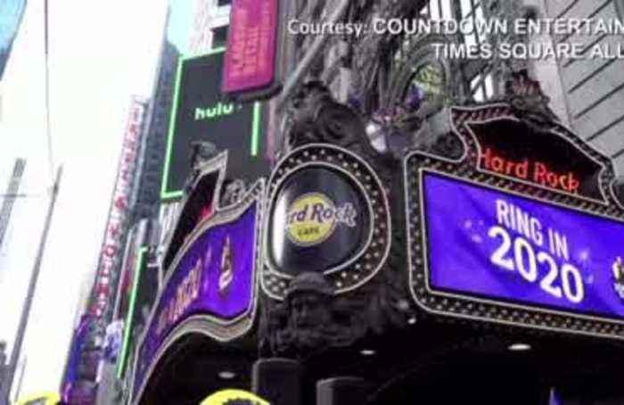 NY Times Square confetti preview a success