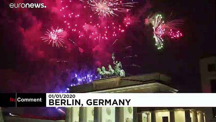 Fireworks as the new decade sweeps in across Europe