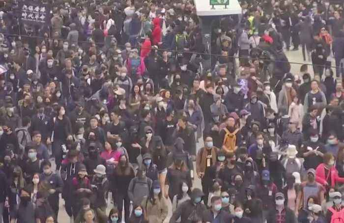 Protests usher in new year in Hong Kong