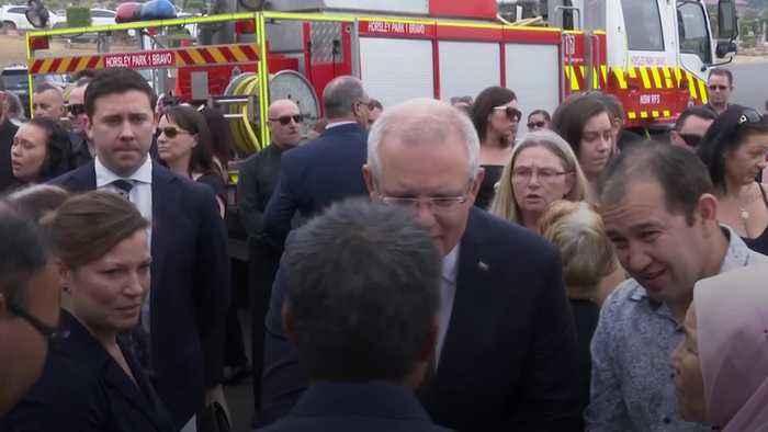Australian PM attends funeral of volunteer firefighter